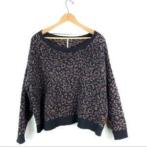 Free People | Leopard Print Sweater